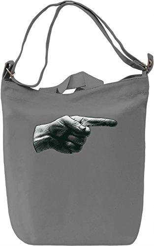 Finger Borsa Giornaliera Canvas Canvas Day Bag| 100% Premium Cotton Canvas| DTG Printing|