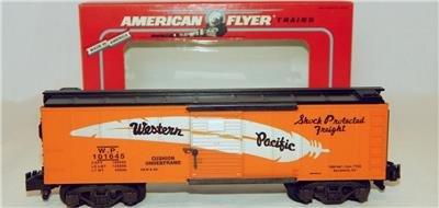 American Flyer 6-48490 Western Pacific Boxcar TTOS 1995 S scale feather 101645 (Western Pacific Boxcar)