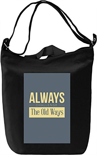 Old ways Borsa Giornaliera Canvas Canvas Day Bag| 100% Premium Cotton Canvas| DTG Printing|