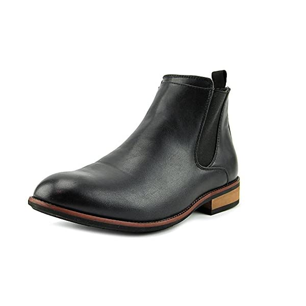 6b8e88d1655 Vance Co. Mens Faux Leather High Top Round Toe Chelsea Dress Boots ...