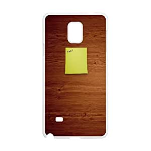 {Funny Series} Samsung Galaxy Note 4 Case Post it Note, Design Protective Case Okaycosama - White