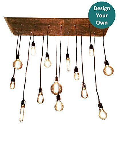 Amazon rustic wood chandelier unique dining chandelier rustic wood chandelier unique dining chandelier design your own led light bulb chandelier aloadofball Image collections