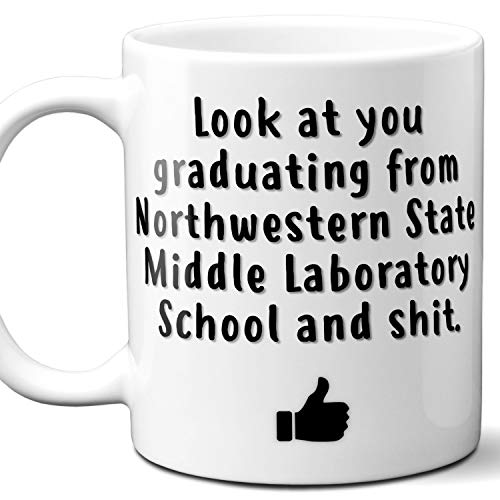 Northwestern State University Middle Laboratory School College Grad Gift Mug For Student. 11 ounces.