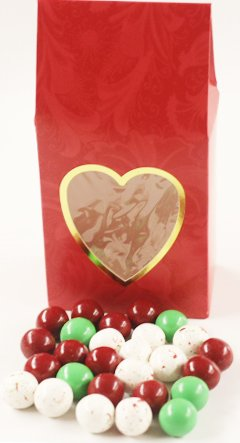 - Scott's Cakes Christmas Chocolate Malt Balls in a 8 oz. Standing Heart Box