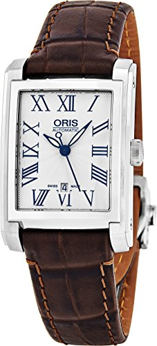 Oris-Rectangular-Date-Womens-Silver-Face-Luminous-Hands-Swiss-Made-Brown-Leather-Band-Rectangle-Automatic-Watch-01-561-7656-4071-07-5-17-70FC