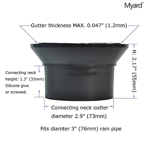 Myard Gutter Downspout Adapter Connector Fits 3 Quot Rain