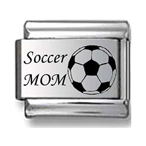 Soccer Mom Laser Italian Charm