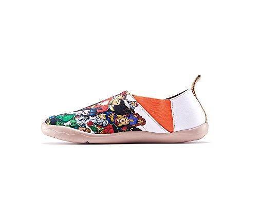 Uin Homme Super Imprimé Chaussure De Toile Blanc