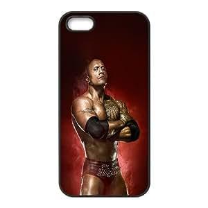 iPhone 5 5s Cell Phone Case Black ha85 wwe rock champion Xomny