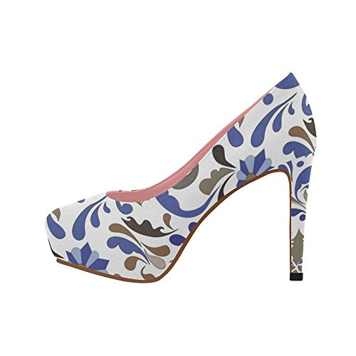 Ethnic Heel Color2 InterestPrint Size Wedge Womens Colorful Graphic 11 Pattern Shoes Aztec On High 5 Flowers Pumps Prin 4gBqgfw