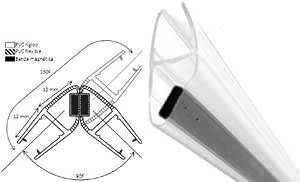 Goma mampara de 2 metros de longitud | Unión Magnética (imán) | Válido para grosores de 4 y 5 mm | Fácil montaje | Alta calidad | Marca española. (4 y 5 mm): Amazon.es: Bricolaje y herramientas