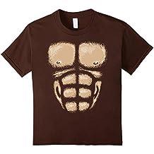 Monkey Chest Muscles Shirt Halloween Costume Gorilla Suit