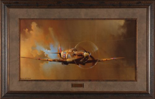 Amazon.com: Spitfire Barrie Clark 45x29 Quality Framed Print Picture ...