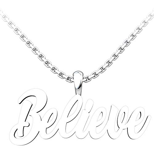 Logos Trading Post Jewelry - Sterling Silver Believe Pendant With 18