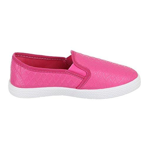 Ital-Design Kinder Schuhe, 946-1, Ballerinas Slipper Pink
