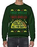 Threadrock Taco Shells Taco Shells Tacos All The Way Unisex Sweatshirt S Forest Green
