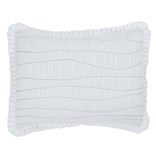 VHC Brands Coastal Farmhouse Bedding - Aurora White Sham, Standard
