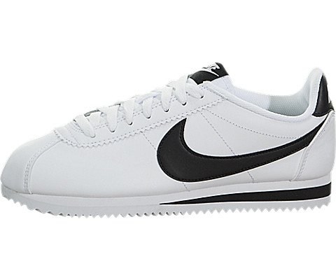 (Nike Womens Classic Cortez Leather White/Black/White Casual Shoe 9 Women US )