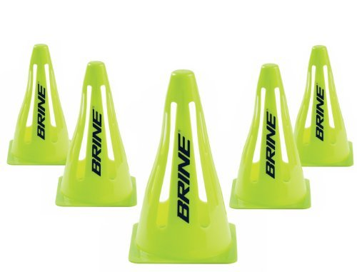 Brine Soccer Collapsible Cones (Lime Green, OSZ) by Brine Soccer