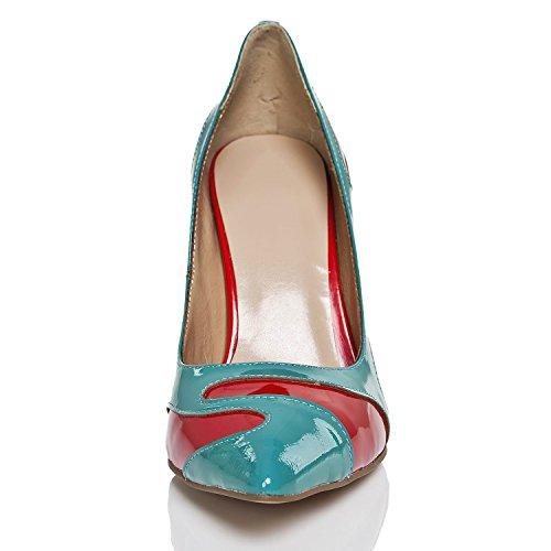 Minitoo - Sandalias con cuña mujer Azul - azul