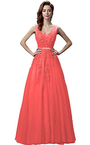 Vimans -  Vestito  - linea ad a - Donna rosso 50