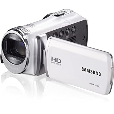 Samsung F90 White Camcorder with 2.7  LCD Screen and HD Video Recording (Certified Refurbished)