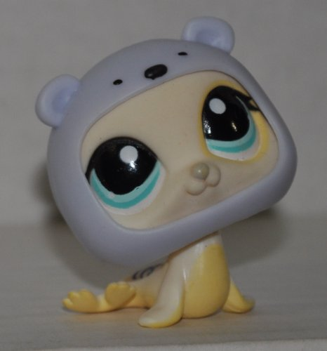 Littlest Pet Shop Seal - Seal #1030 (Yellow, Blue Eyes) - Littlest Pet Shop (Retired) Collector Toy - LPS Collectible Replacement Figure - Loose (OOP Out of Package & Print)