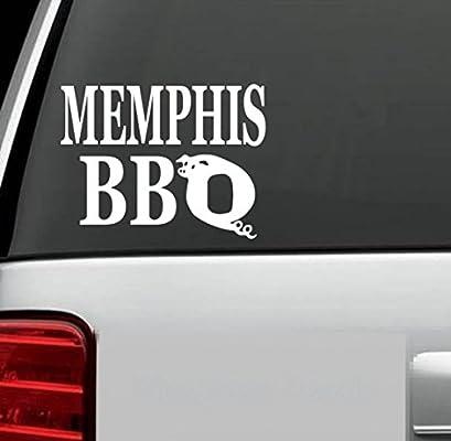 Memphis BBQ Decal Sticker para Camión SUV Ventana Tienda de campaña Remolque para botes portátiles Sendero ATV Smoker Grill Pegatina troquelada para Windows, Autos, Camiones, Laptops, etc.: Amazon.es: Bricolaje y herramientas