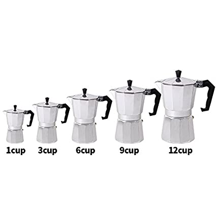 Grandey Homeleader Coffee Makers Top Cafeteira Expresso Percolator 3cup/6cup/9cup/12cup Stovetop