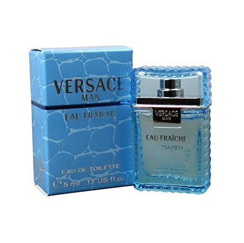 VERSACE MAN EAU FRAICHE by Gianni Versace 0.17 oz / 5 ml Mini Eau De Toilette (EDT) Men Cologne Splash 0.17 Ounce Cologne Miniature