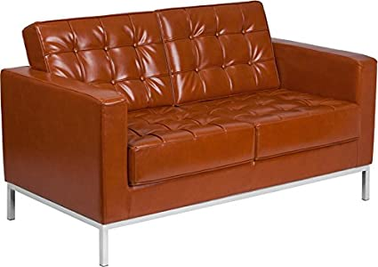 Enjoyable Amazon Com Discountroomdecor Premium Quality Cognac Bonded Machost Co Dining Chair Design Ideas Machostcouk