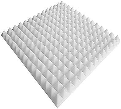 Noppenschaumstoff Schaumstoff Akustikschaumstoff 1 x ca 50x50x7cm Weiss