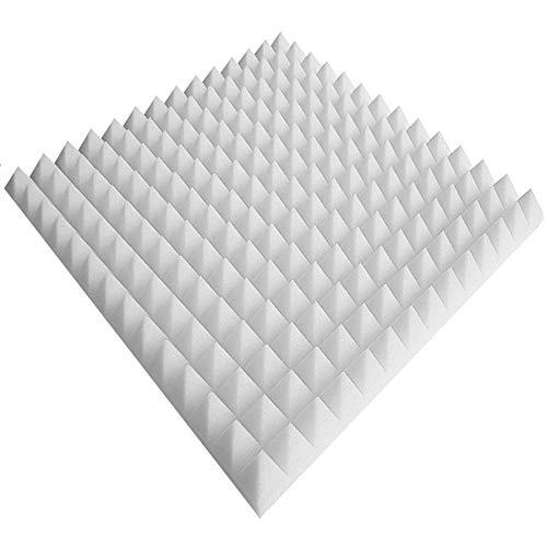 Weiss Schaumstoff Noppenschaum 50x50x5cm 80 x Akustikschaumstoff ca
