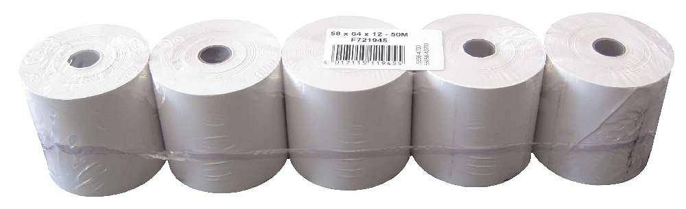 Veit 10930006rotoli di carta termica, 5pezzi, 58X 64X 12mm Franz Veit GmbH