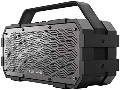 Bluetooth Speaker, Bugani M90 Portable Bluetooth Speaker with 30W Stereo Sound and Deep Bass,Bluetooth5.0, Support TF Card AUX, Built in Mic (Black)