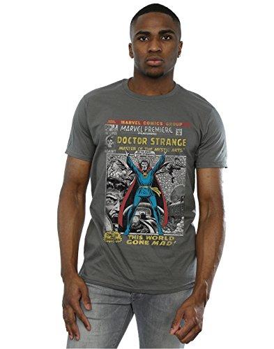 - Marvel Men's Doctor Strange Comic Cover T-Shirt Small Charcoal