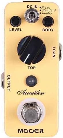 MOOER Acoustic Guitar Effect Pedal, 2.25 x 4.25 x 1.75 (Acoustikar)