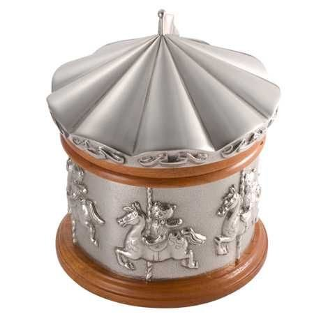 Royal Selangor Hand-Finished Teddy Bears' Picnic Merry Go Round Music Box 12.5cm D x 15.5cm H