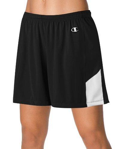 Mästare Dubbla Dry® Stretch Damlacrosse / Landhockey Shorts # L531 Svart / Vit