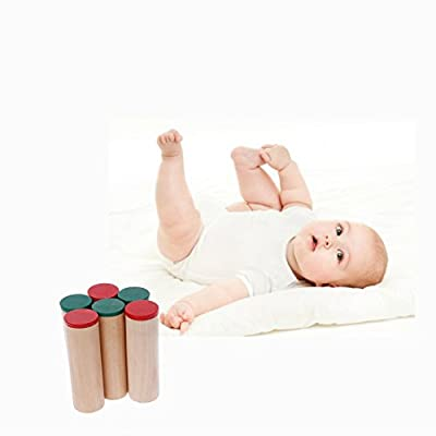 Aoaoingy Montessori Sensorial Auditory Sound Boxes Cylinders Kids Baby Educational Toys: Toys & Games