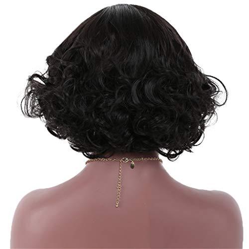 New wig Ladies Natural Balck Short Curly Hair