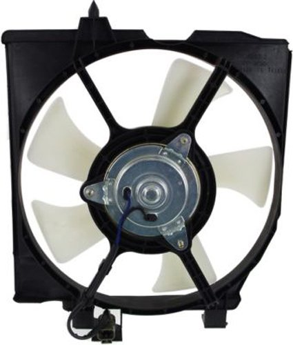 Crash Parts Plus Passenger Side A/C Condenser Single Cooling Fan for Mazda Protege MA3115138