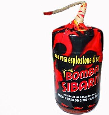 sfizi di calabria bomba calabrese con miccia 290gr idea regalo - mix di peperoncino e ortaggi - esplosione di gusto b0187t3y4y