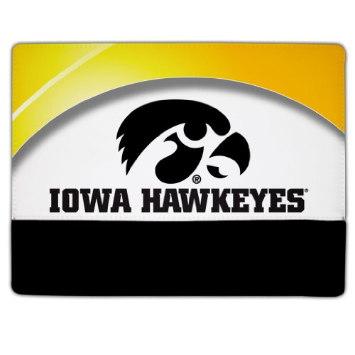 iPad 2 & 3 Iowa Hawkeyes Design #2 (Tiger Hawk) - Protective Leather and Suede Case