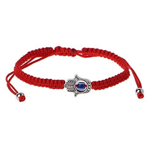 Doiber Lucky Kabbalah Red String Hamsa Bracelets Blue Evil Eye Fatima Hand Jewelry ()