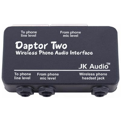 JK Audio Daptor 2 (DAP2) Wireless Phone Audio Interface for use with Cell / Cordless ()