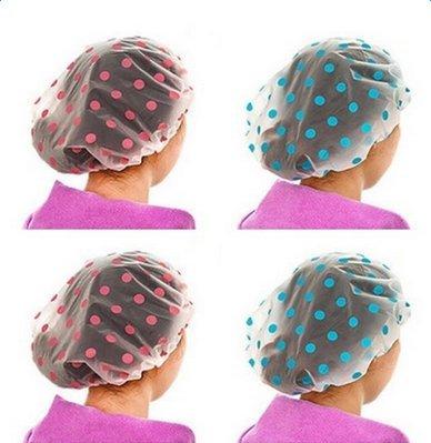 Doitsa 6X Bonnet de Douche pour Femme Fille, Bonnet de Bain Transparent Étanche Cuisine Casquette Couleur aléatoire