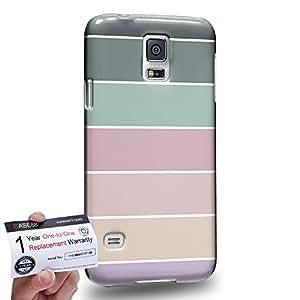 Case88 [Samsung Galaxy S5] 3D impresa Carcasa/Funda dura para & Tarjeta de garantía - Art Coloured Doodle Patterns Pastel Palette