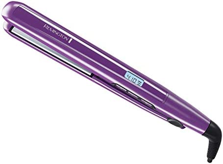 Remington 1 inch Anti-Static Flat Iron with Floating Ceramic Plates and Digital Controls, Hair Straightener, Purple, S5500