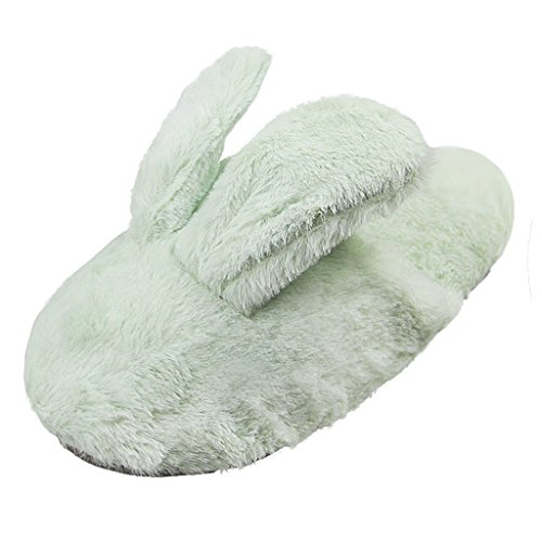 Foam Cute House Warm Soft Unisex Memory Slippers Green Adult Mint Starsouce Toe Closed Shoes Plush zE1wE